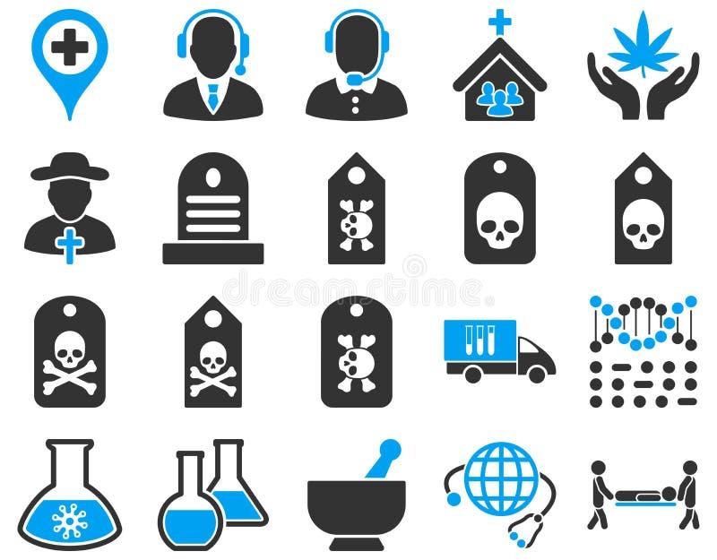 Medyczne bicolor ikony ilustracja wektor