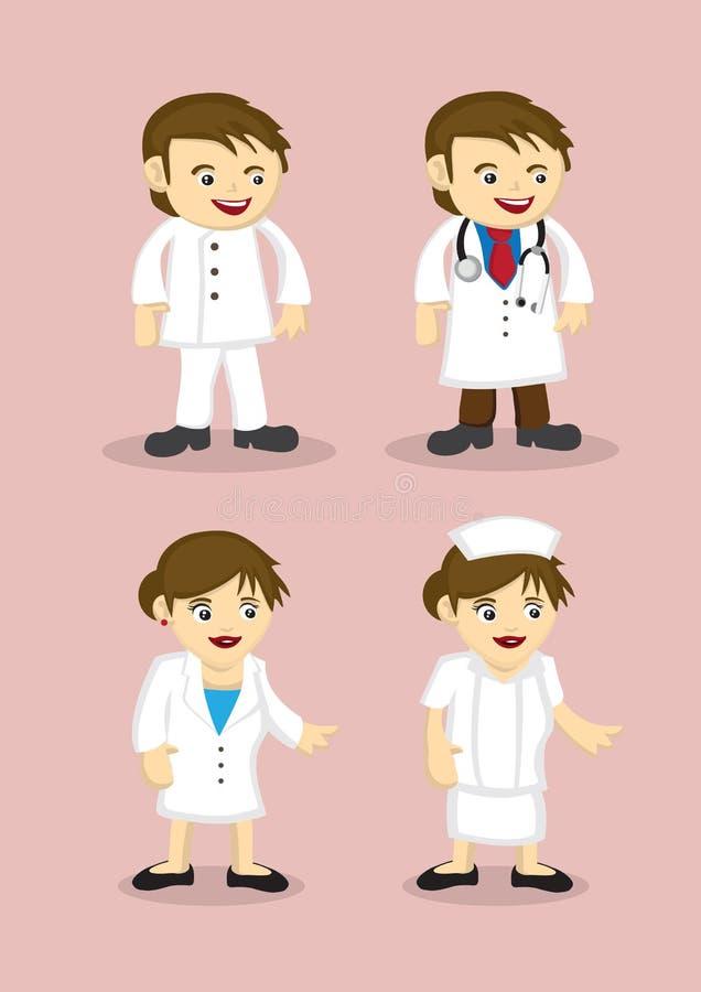 Medyczne i opieka zdrowotna profesjonalistów wektoru ikony ilustracja wektor
