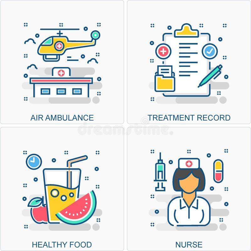 Medyczne ikon i poj?? ilustracje zdjęcia royalty free