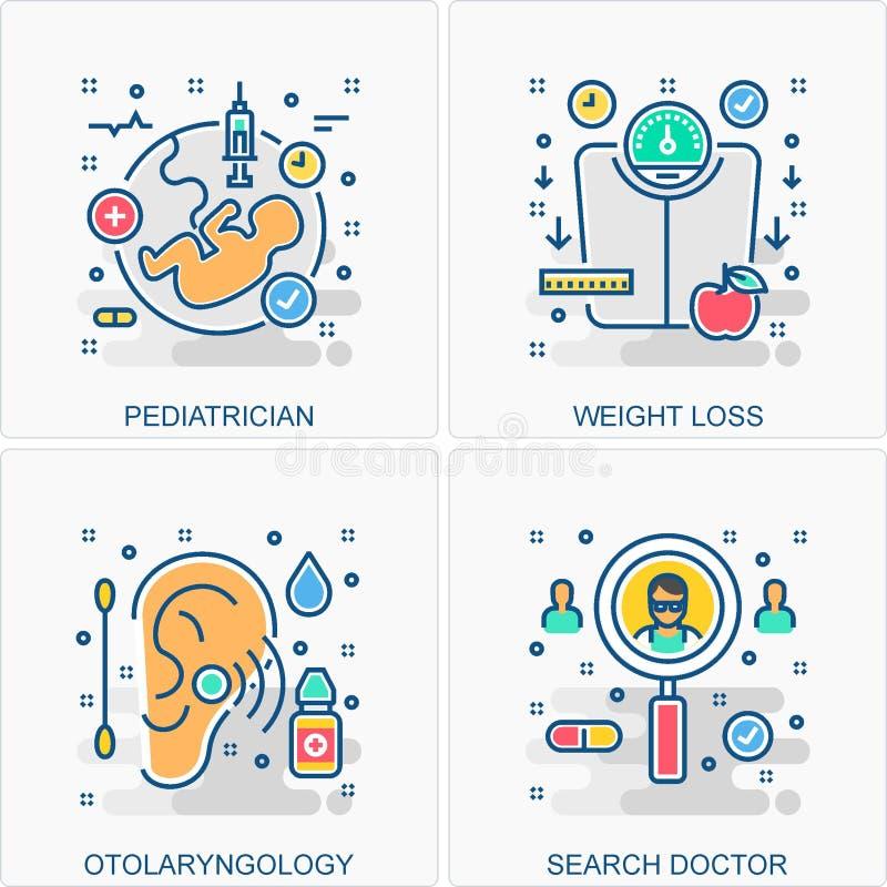 Medyczne ikon i poj?? ilustracje fotografia stock