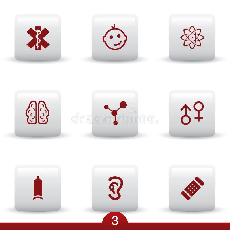 Download Medyczne ikon serie ilustracja wektor. Ilustracja złożonej z znak - 13330259