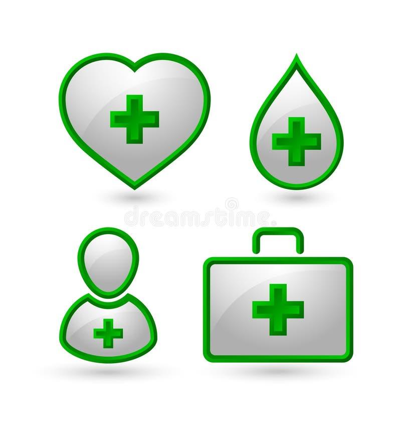 Medyczne ikony royalty ilustracja