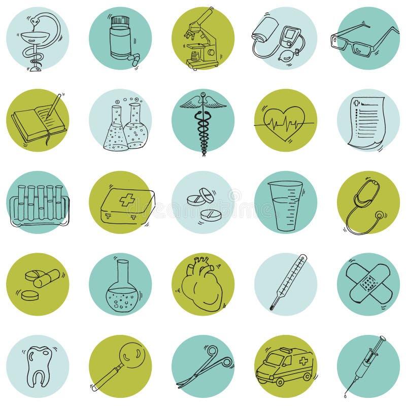 Medyczne ikony ilustracja wektor