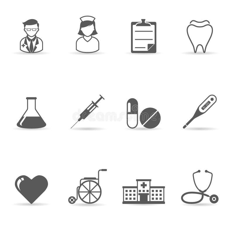 medyczne kolor ikony przerzedżą royalty ilustracja