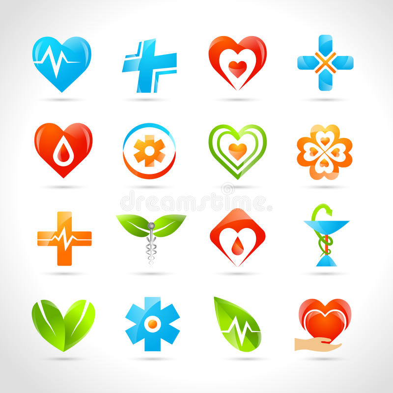 Medyczne logo ikony ilustracja wektor