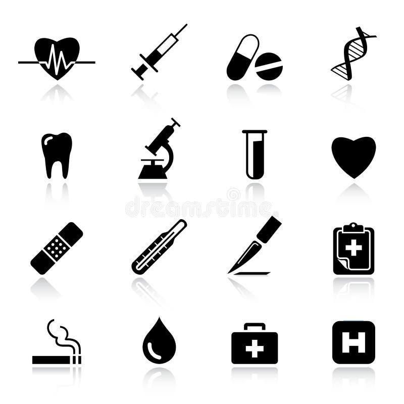 medyczne podstawowy ikony royalty ilustracja