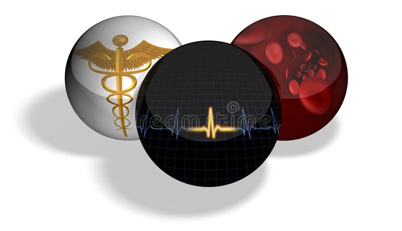 medyczne sfery royalty ilustracja