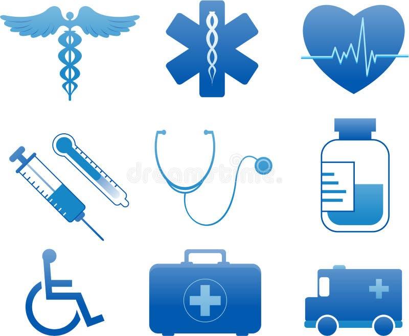 medyczne szpitalne ikony ilustracja wektor