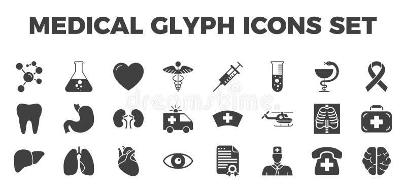 Medyczne wektorowe ikony ustawiać ilustracja wektor