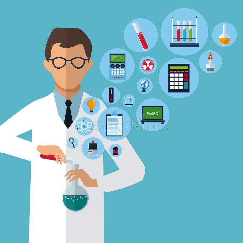 Medycznego naukowa eksperymentu laboratorium dostawy ilustracji
