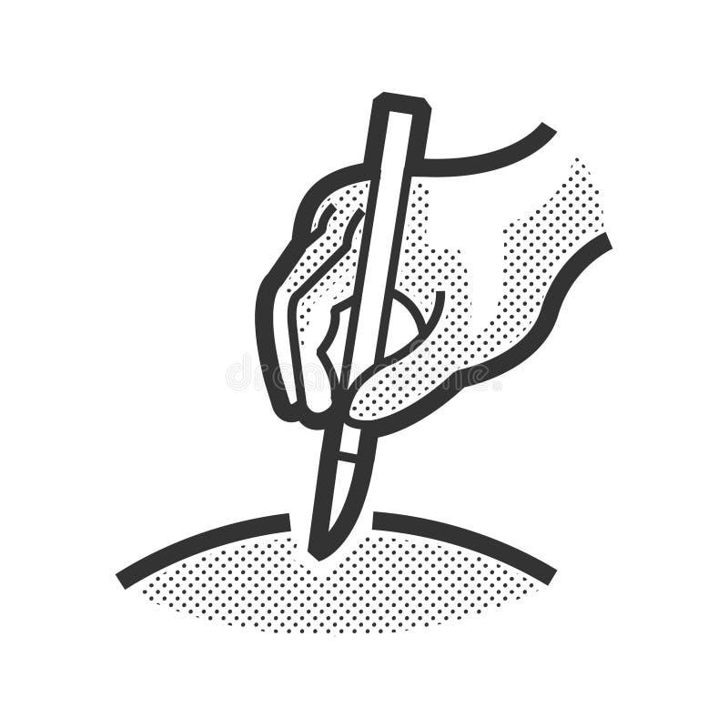 Medycznego pacjenta ikona, działa ikonę royalty ilustracja