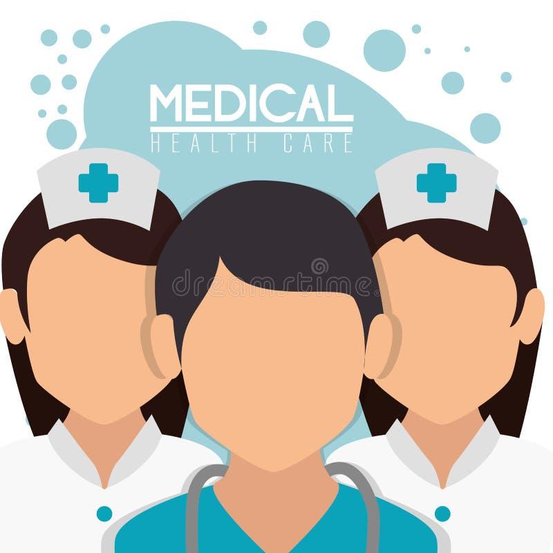 Medycznego personelu profesjonalisty charaktery royalty ilustracja