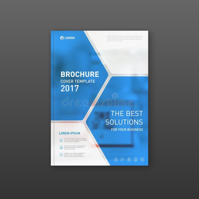 Medycznej broszurki okładkowy szablon, ulotka projekta układ royalty ilustracja