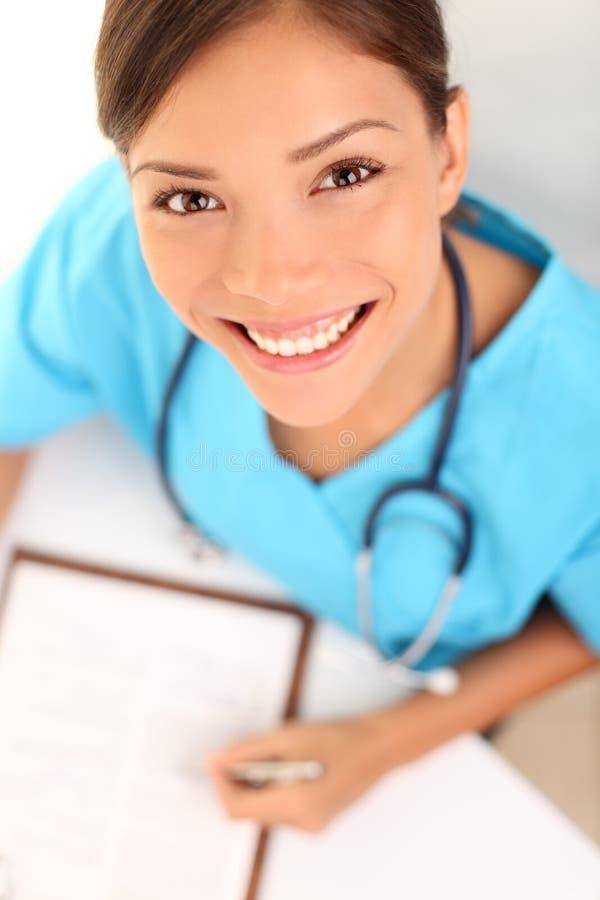 medycznej pielęgniarki fachowa kobieta zdjęcia stock