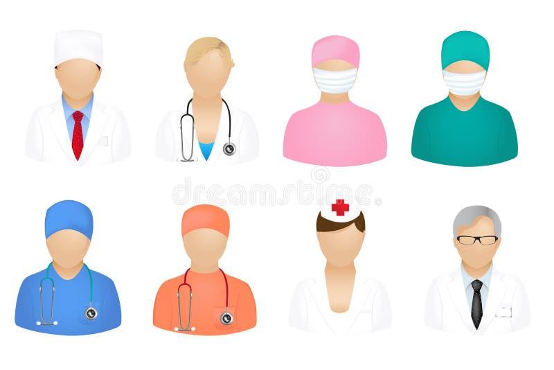 medyczni ludzie ikona wektorów ilustracja wektor