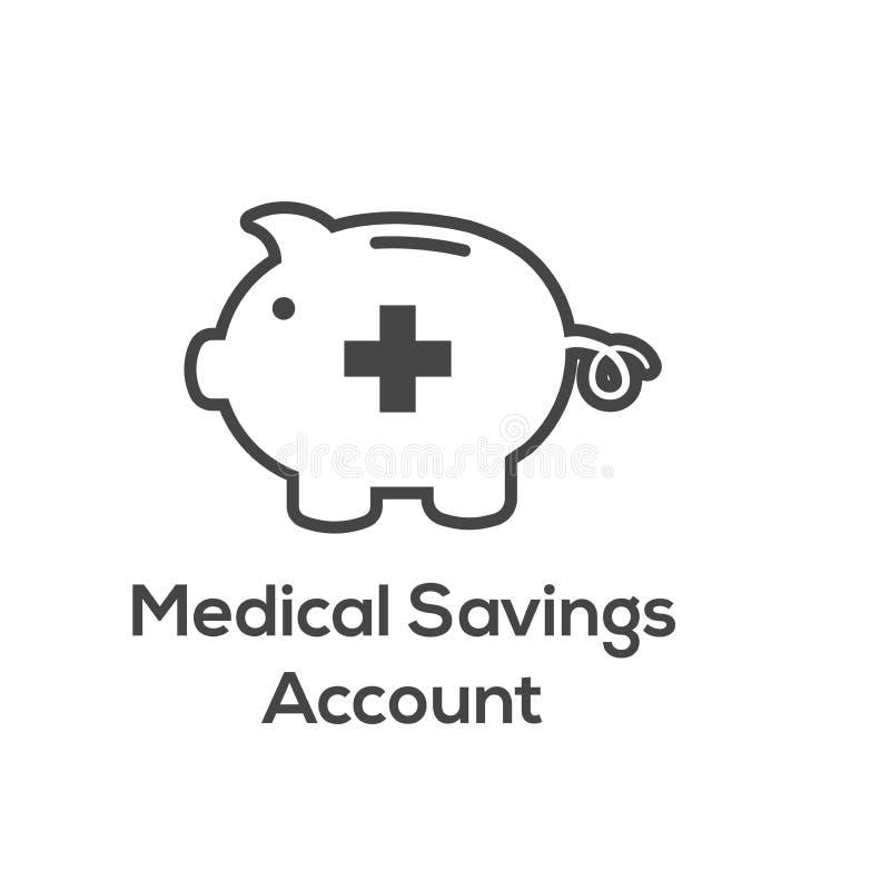 Medyczni podatków Savings zdrowie savings konto lub elastyczny spendin - royalty ilustracja