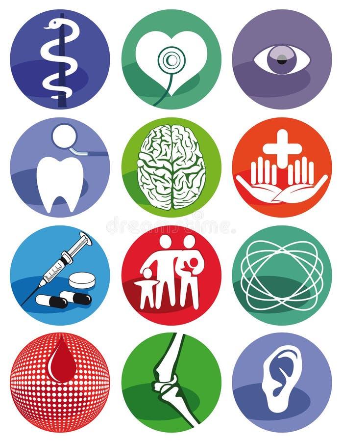 Medyczni symbole royalty ilustracja