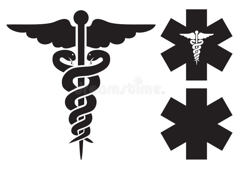 Medyczni znaki royalty ilustracja