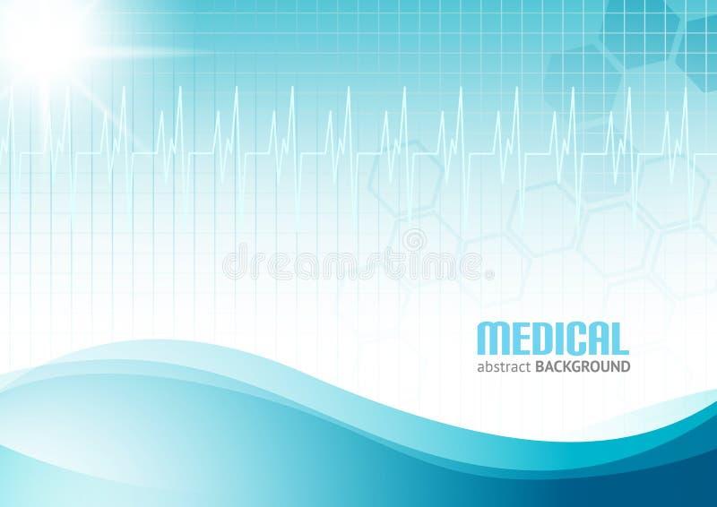 Medyczny Abstrakcjonistyczny tło ilustracja wektor