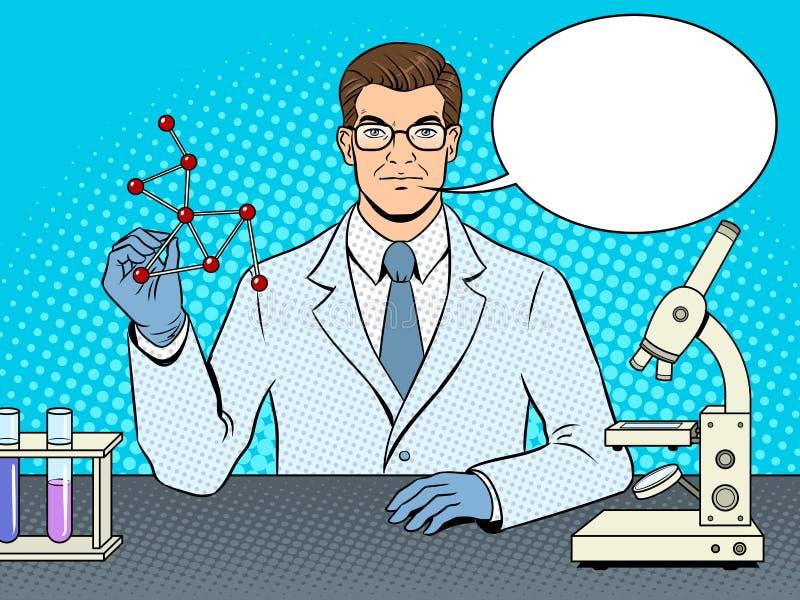 Medyczny chemika naukowa wystrzału sztuki wektor royalty ilustracja
