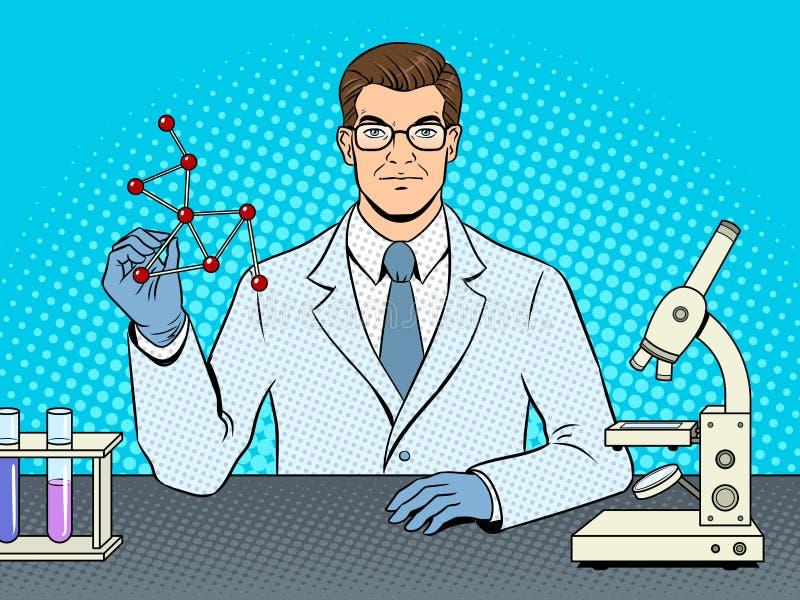 Medyczny chemika naukowa wystrzału sztuki wektor ilustracja wektor