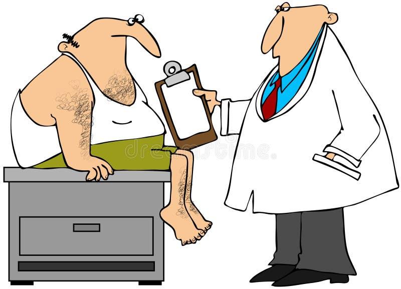 Download Medyczny egzamin ilustracji. Obraz złożonej z stół, lekarz - 26891400