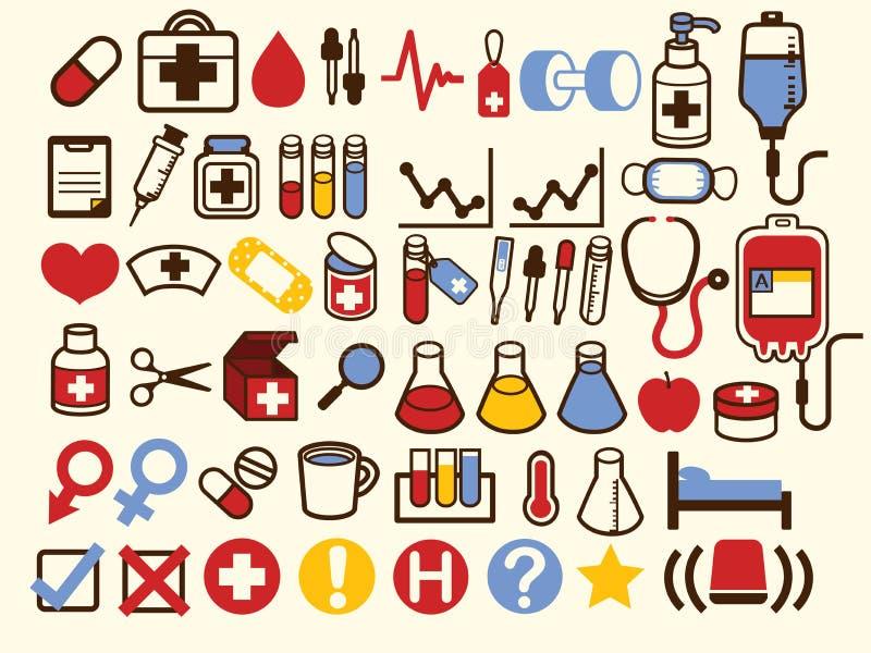 50+ Medyczny i opieki zdrowotnej ikona