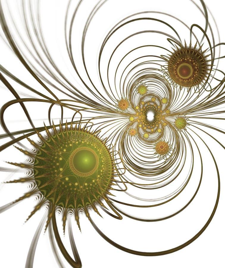 Medyczny i technologia tło Futurystyczna wirusowa struktura ilustracji