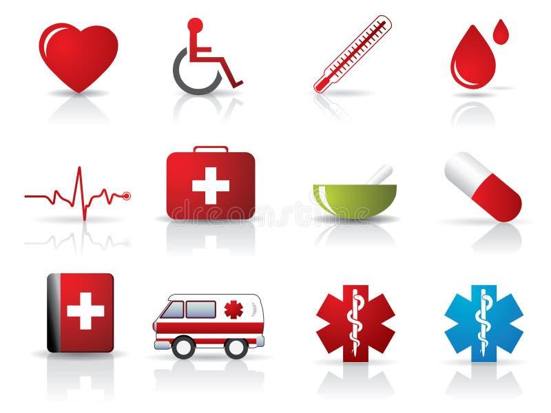 medyczny ikona set