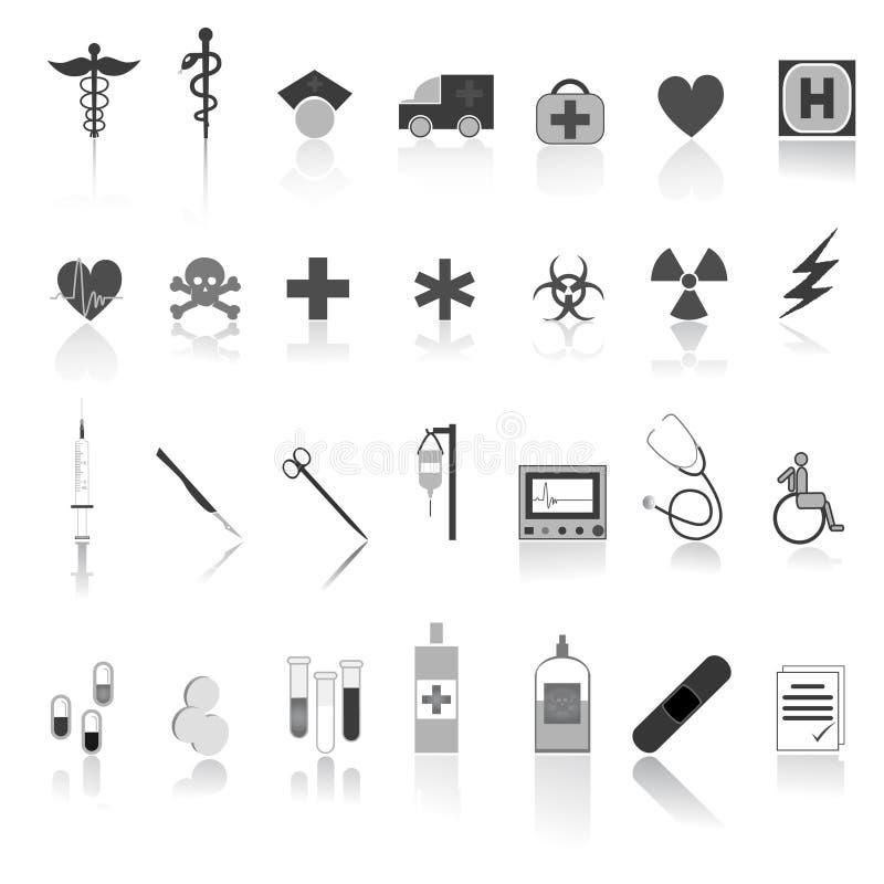 Medyczny ikony wektoru set royalty ilustracja