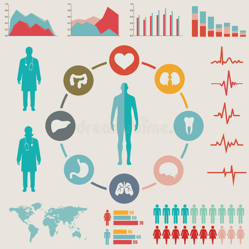 Medyczny Infographic set ilustracji