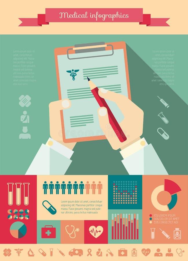 Medyczny Infographic szablon. ilustracji