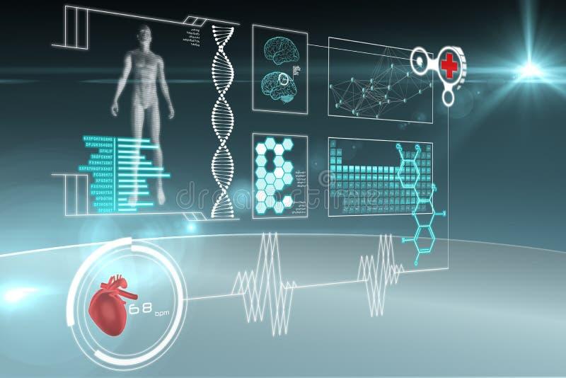 Medyczny interfejs ilustracja wektor