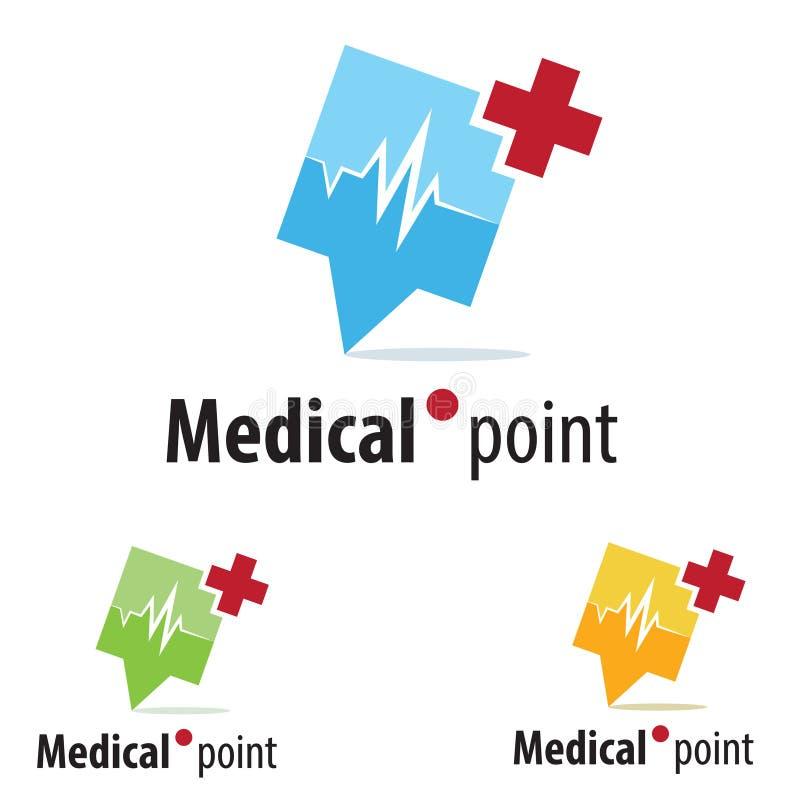 Medyczny loga pojęcie ilustracja wektor