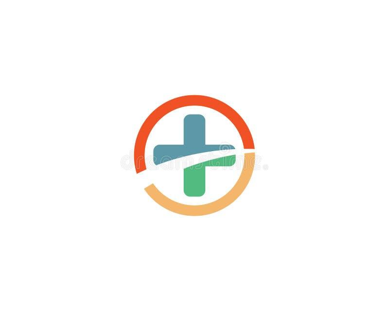 Medyczny loga szablon ilustracja wektor