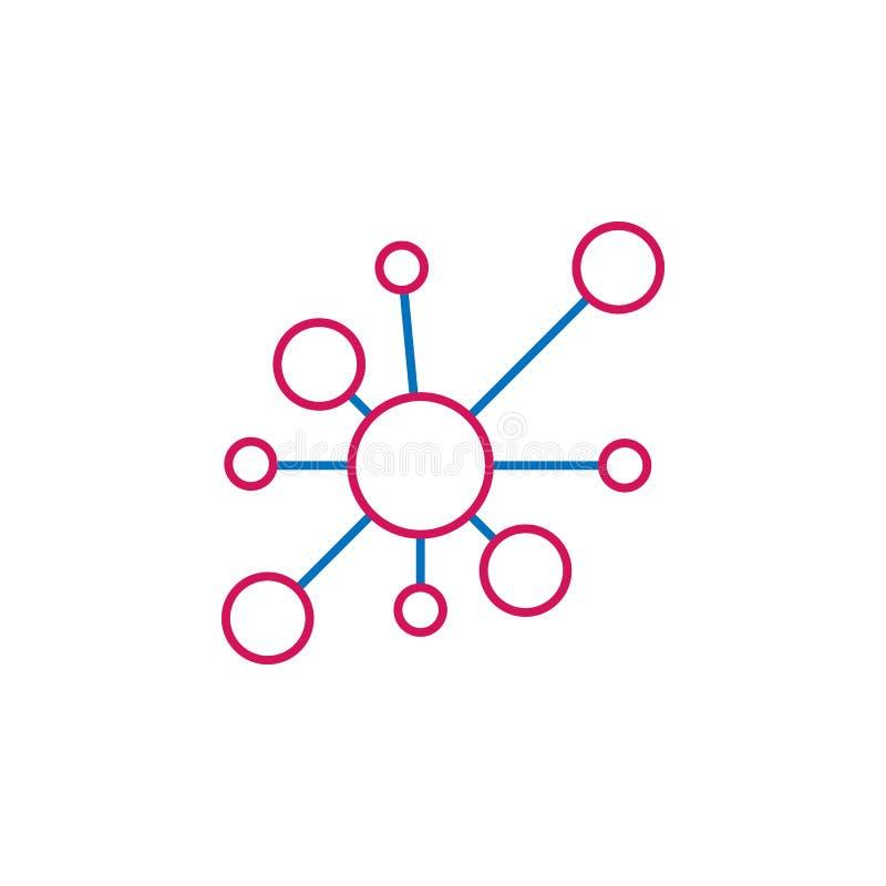 Medyczny, molekuła barwił ikonę Element medycyny ilustracja Znaki i symbol ikona mogą używać dla sieci, logo, mobilny app, UI royalty ilustracja