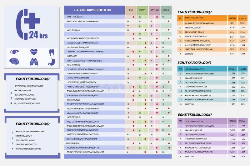 Medyczny opieki zdrowotnej i ikony Infographic szablon ilustracja wektor