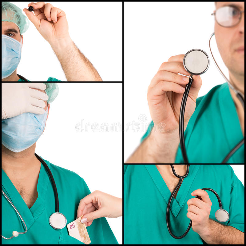 Medyczny pojęcie kolaż zdjęcia royalty free