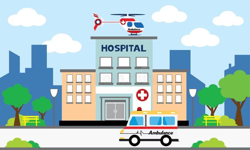 Medyczny pojęcie z szpitalem royalty ilustracja