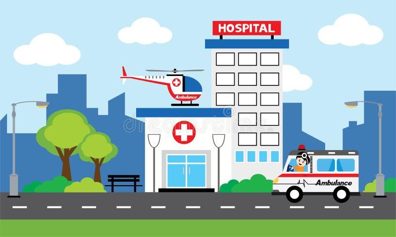 Medyczny pojęcie z szpitalem ilustracji