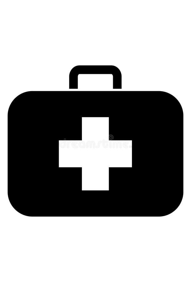 Medyczny skrzynki ikony wektor ilustracji