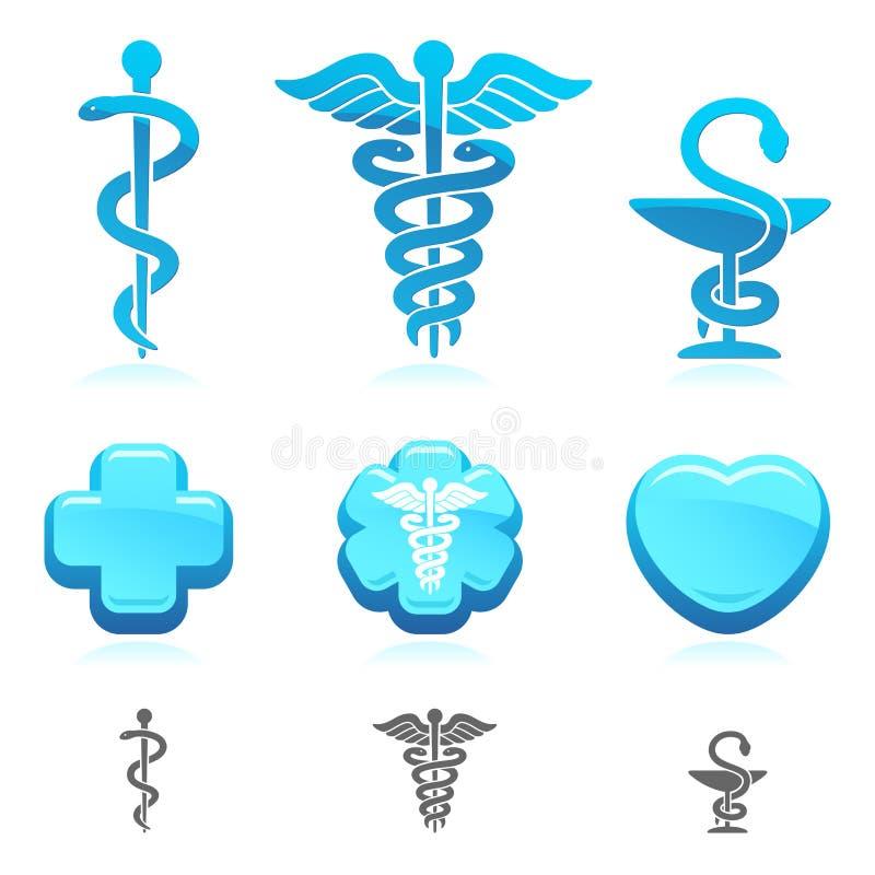 Medyczny symbolu set. Wektor royalty ilustracja