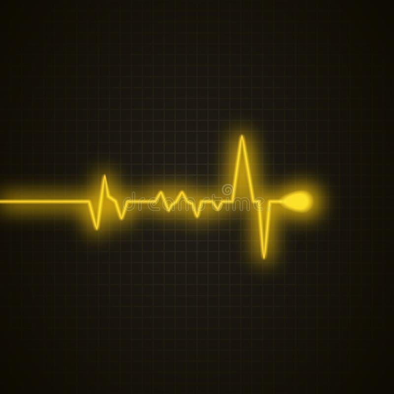 Medyczny tło z kierowym kardiogramem Kierowy puls odizolowywający Wektorowy tło ilustracji