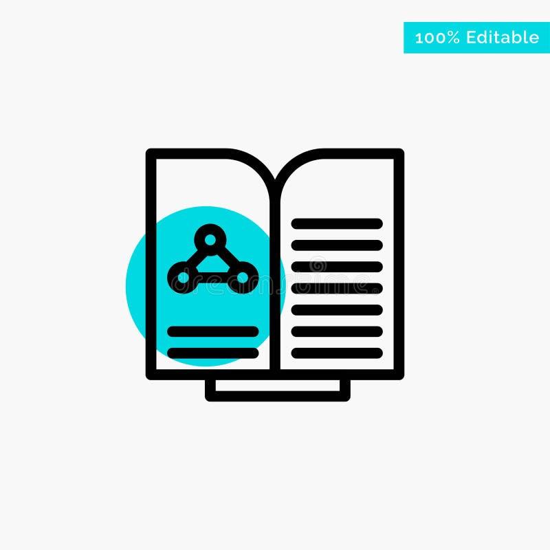 Medyczny, test, raport, Książkowa turkusowa główna atrakcja okręgu punktu wektoru ikona ilustracji