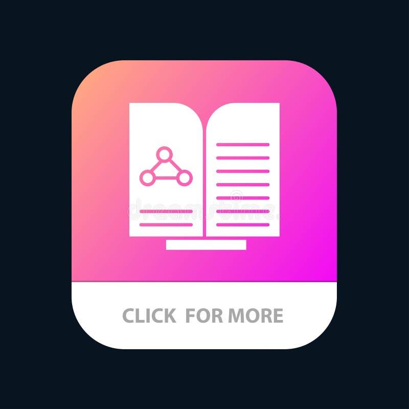 Medyczny, test, raport, Książkowy Mobilny App guzik Android i IOS glifu wersja royalty ilustracja