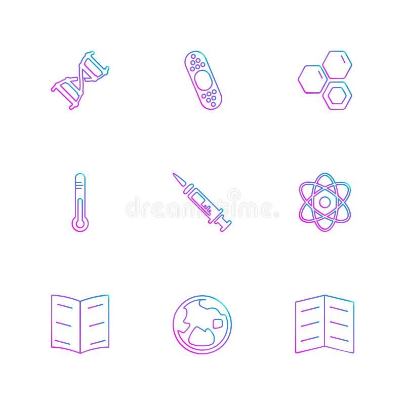 medyczny, zdrowie, nawigacja, rozmowa, eps ikony ustawia vec ilustracja wektor