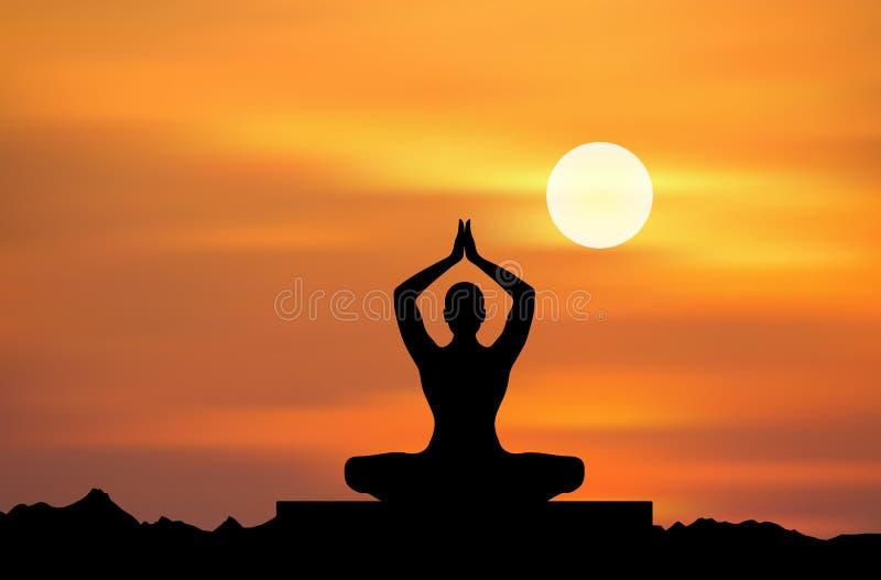 medytaci joga royalty ilustracja