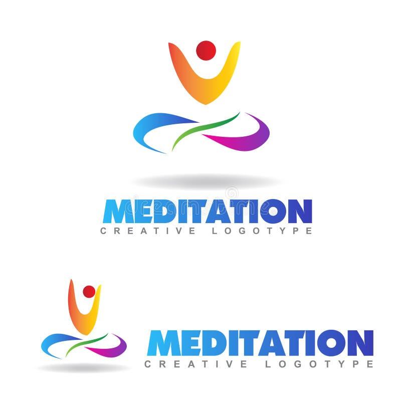 Medytaci joga logo royalty ilustracja