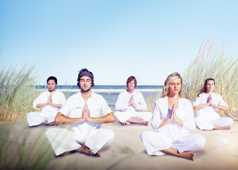 Medytaci joga Wellness relaksu Pokojowy pojęcie zdjęcia royalty free