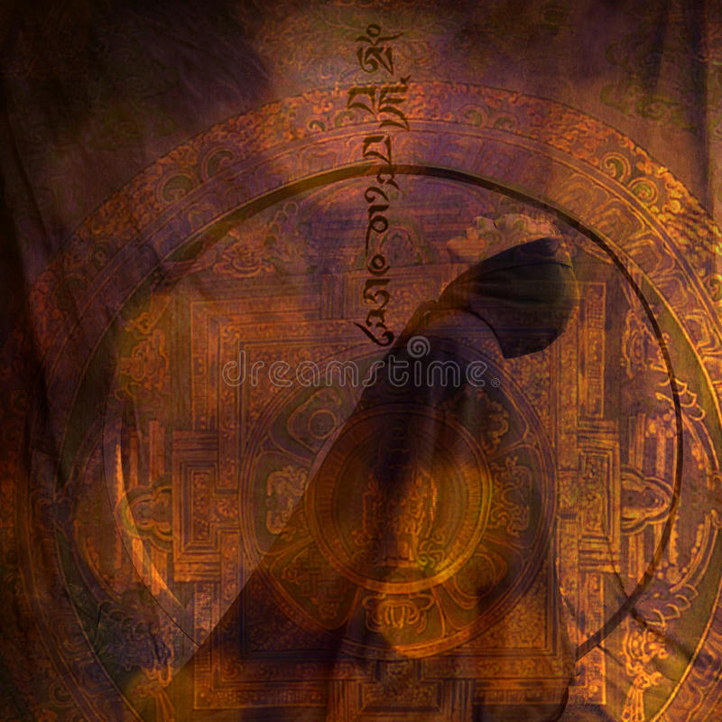 medytaci kobieta royalty ilustracja